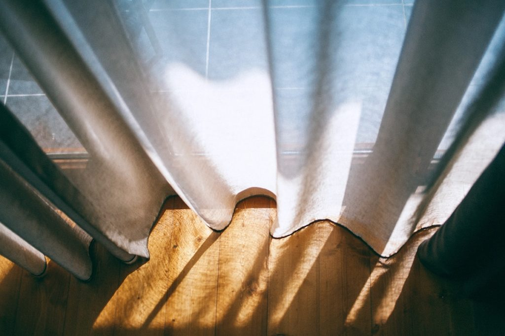 Curtains on a window